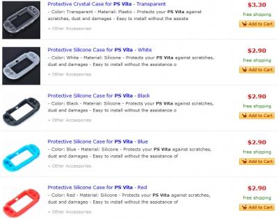 На DX появились аксессуары PS Vita