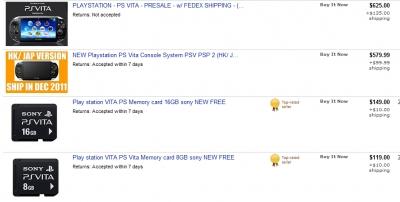 PS Vita на Ebay